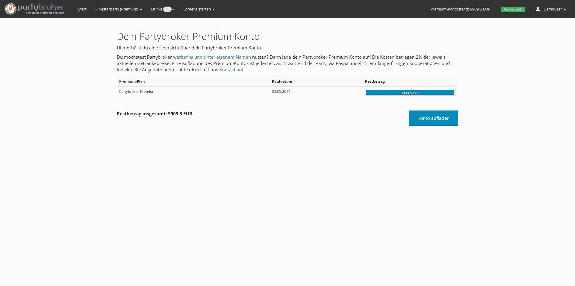 Übersicht über dein Premium-Konto