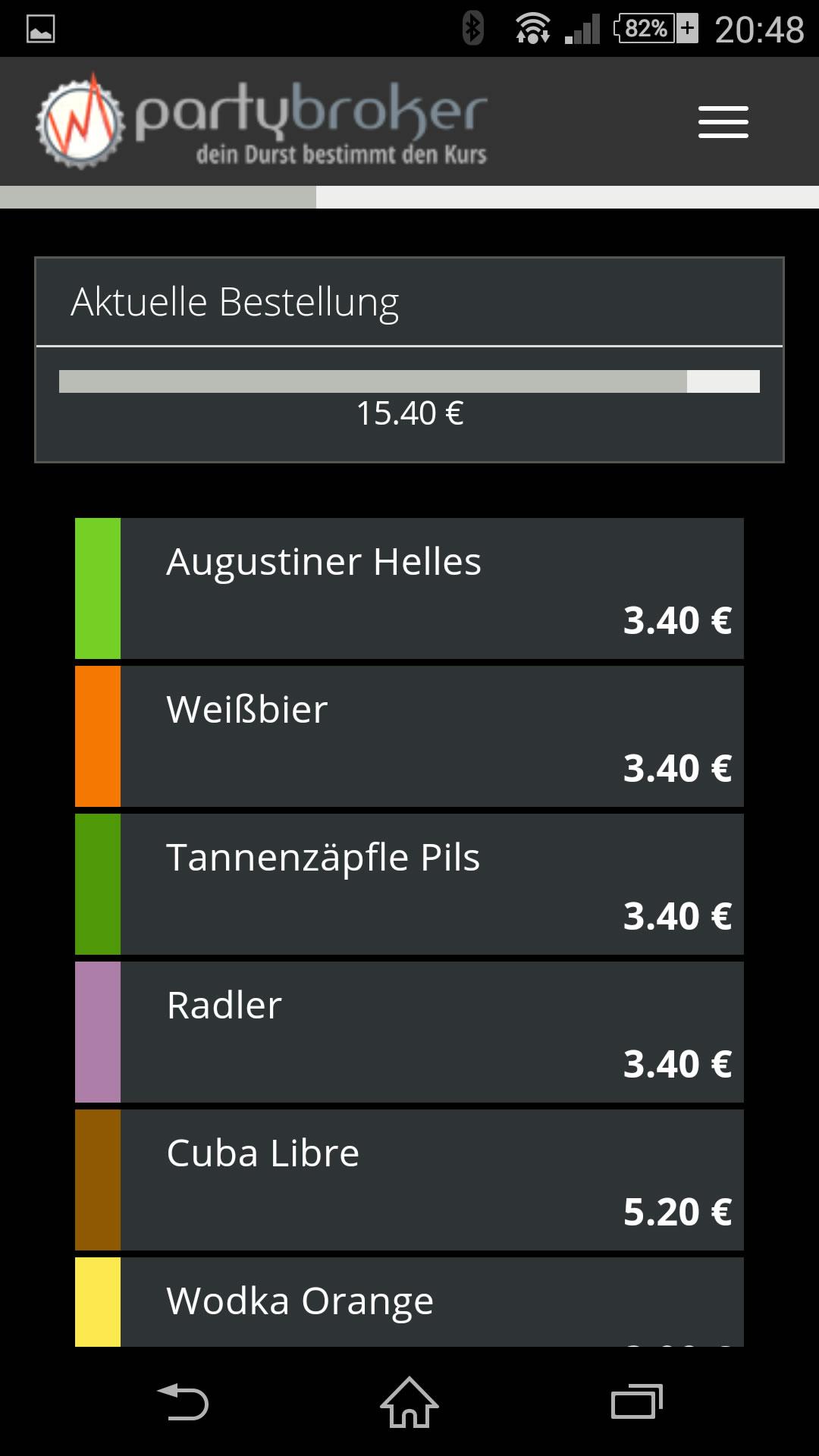 Barscreen für Handy und Tablet